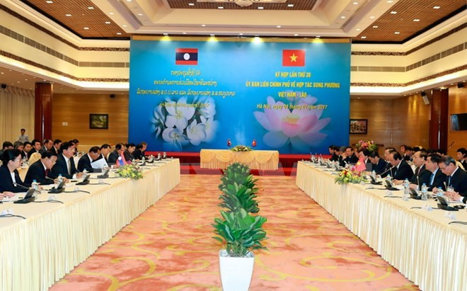 Overview of the 39th meeting of the Laos-Vietnam Inter-Governmental Committee (Photo: VNA)