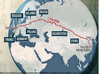 First freight train from China arrives in London after an 18-day journey