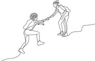 continuous-one-line-drawing-woman-help-c