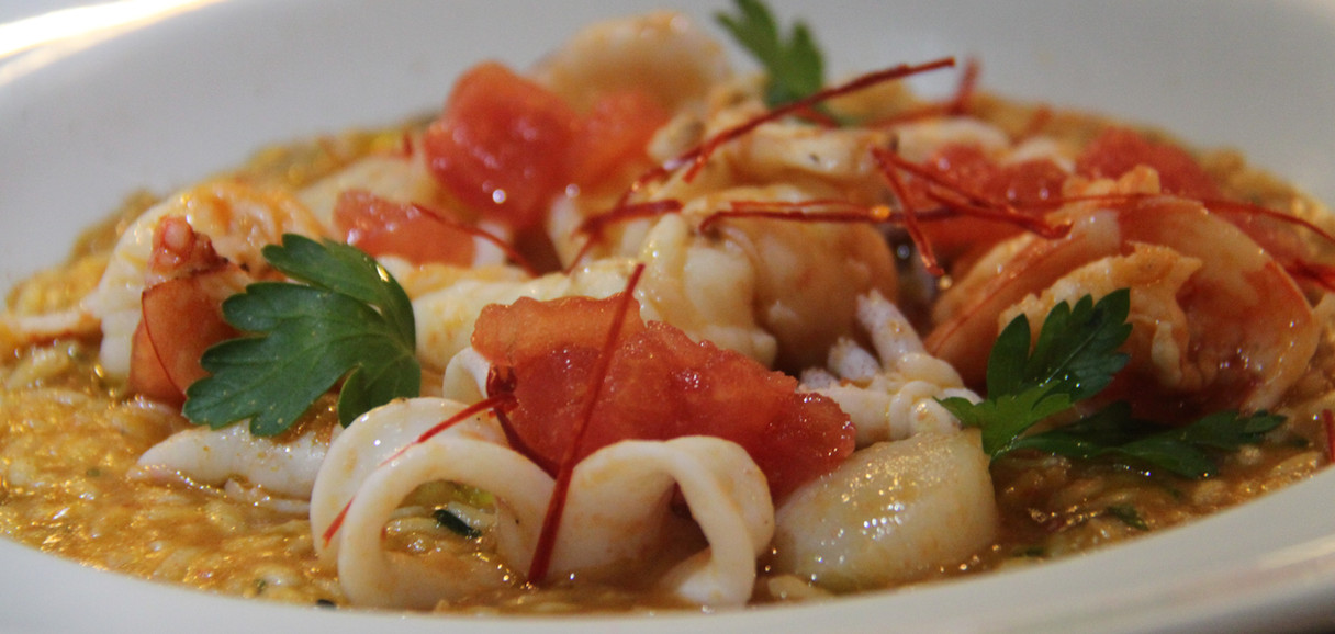 Risotto - Italian rice with seafood