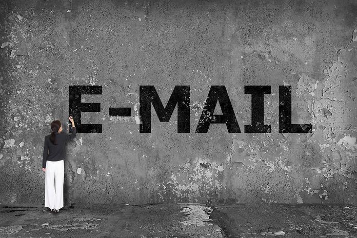 businesswoman explaining email marketing