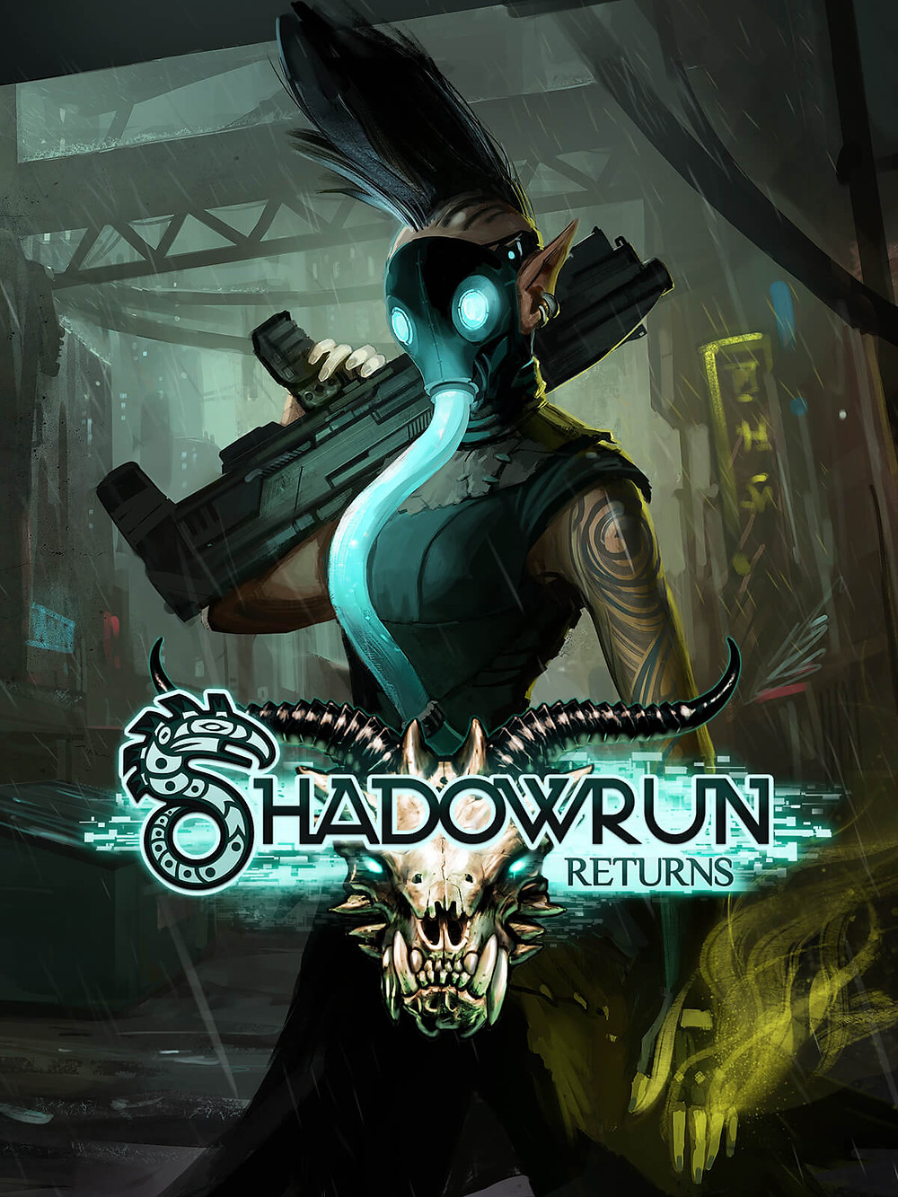 The cover of Shadowrun, a cyberpunk game