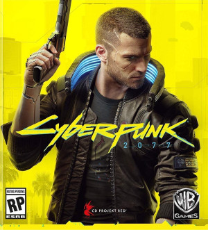A cyberpunk game cover, Cyberpunk 2077