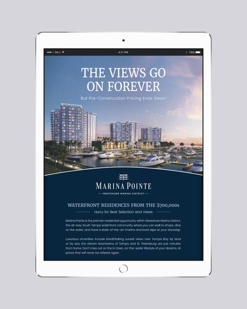 Graphic Designer at United Landmark Associates Client: Marina Pointe