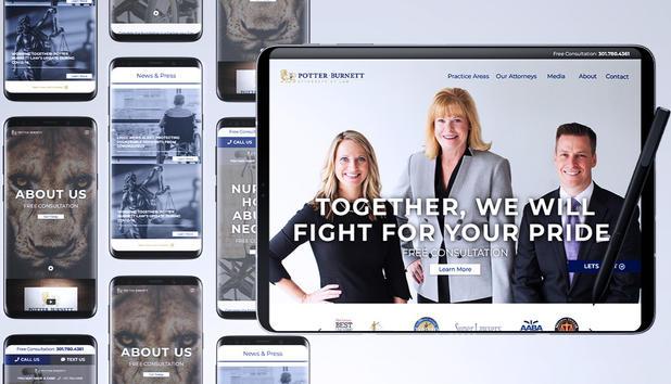 Graphic Designer at Liquified Creative Client: Potter Burnett Law