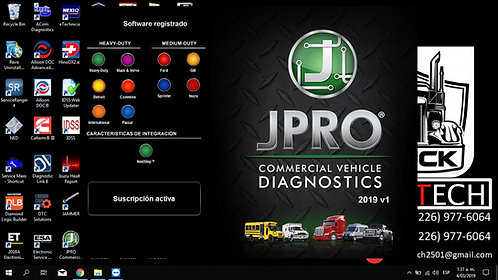 JPro Commercial Vehicle Diagnostic 2019