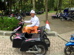 Happy sidecar driver