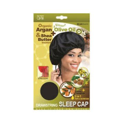 Qfit Argan Olive Oil & SheaButter Drawstring Sleep Cap