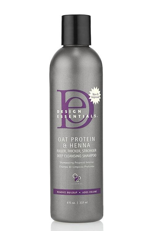Design Essentials Oat Protein & Henna Deep Cleansing Shampoo