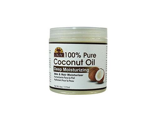 OKAY 100% Pure Coconut Oil Skin & Hair Moisturizer 6oz