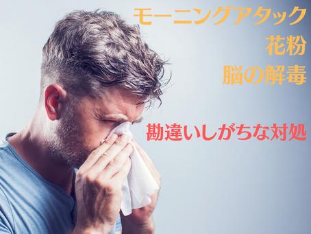 モーニングアタックは花粉ではない!コツをお伝えします。