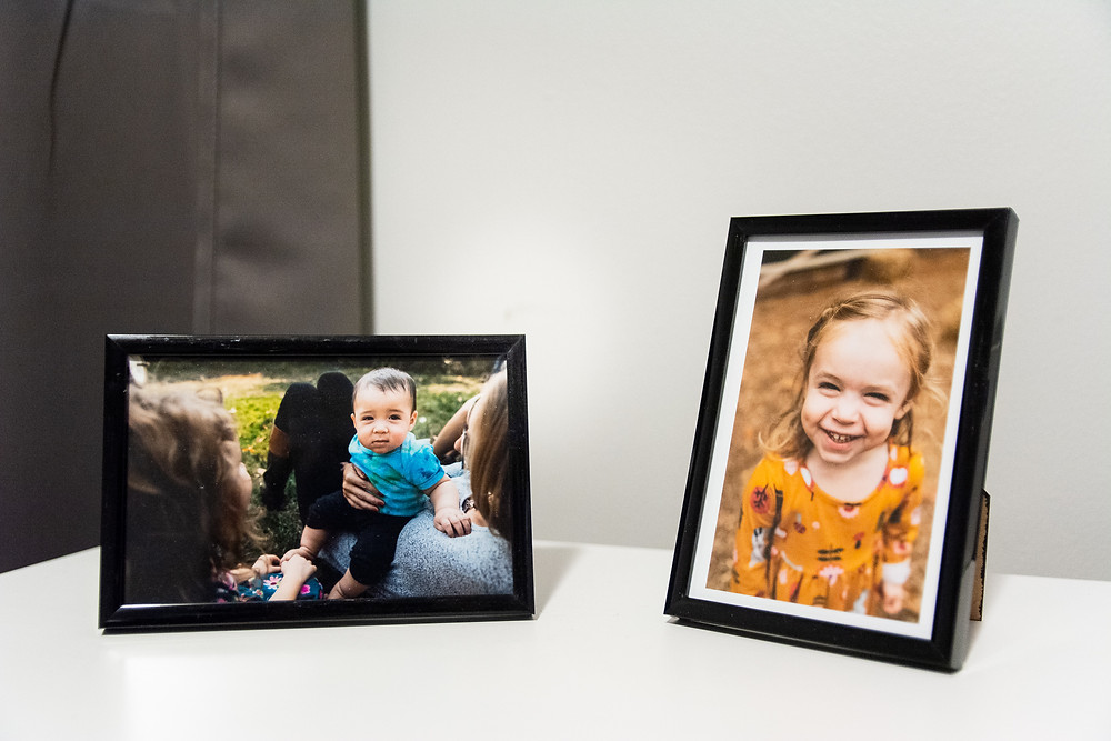 framed photographs of kids toddler and baby