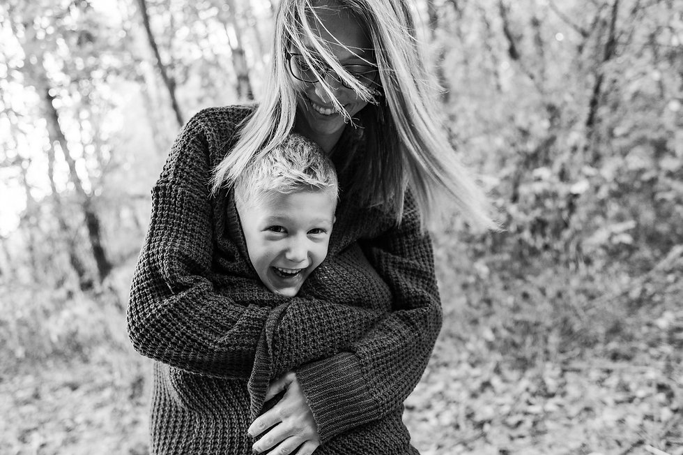 mom and son fall photographer new hampsh