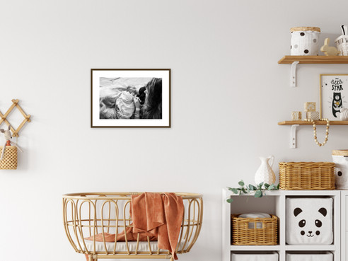 newborn print, framed and matted