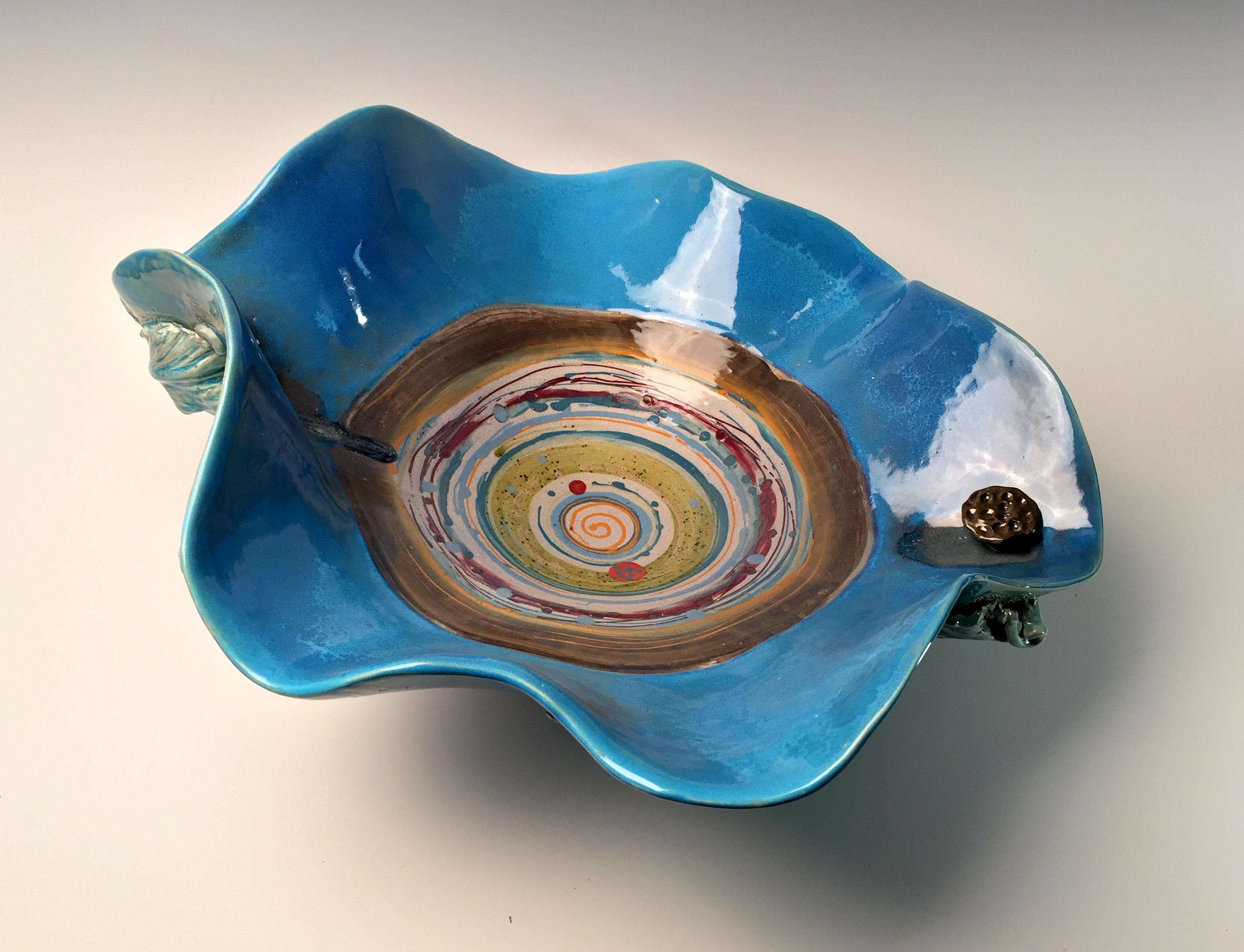 Cox, Debi Blue Seed Pod Platte front abo