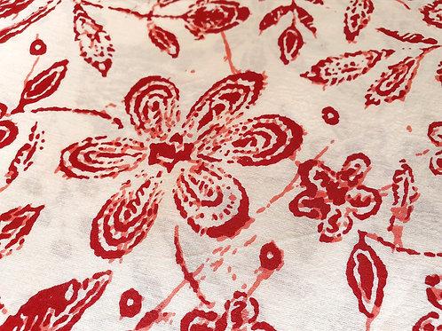 Vibrant Madder - natural cotton fabric - price/metre