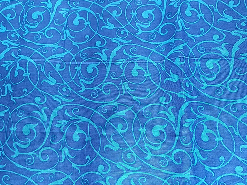 Ocean Blue - natural cotton fabric - price/metre
