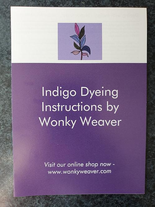 Indigo Dye Vat Method & Instructions - pdf guide by email