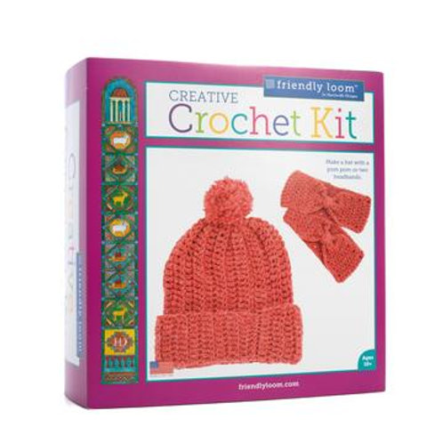 Creative Crochet Kit - red & blue available