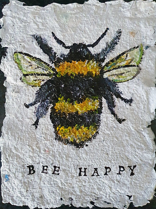 Bee Happy - By Paper et Paint