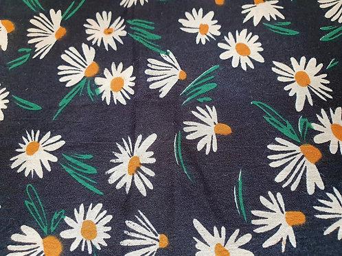 Daisy Delight - natural cotton fabric - price/metre