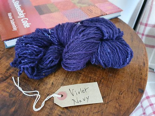 Chromatic Cotton Yarn - Violet Navy - Organic & Luxor available