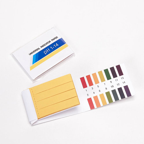 Pack of 80 pH testing strips (litmus paper) - scale pH 1-14