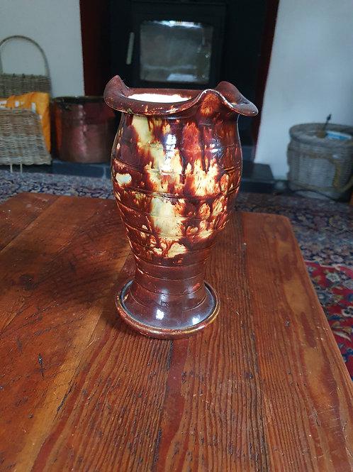 A Welsh Ewenny Pottery Mottled Glaze Vase
