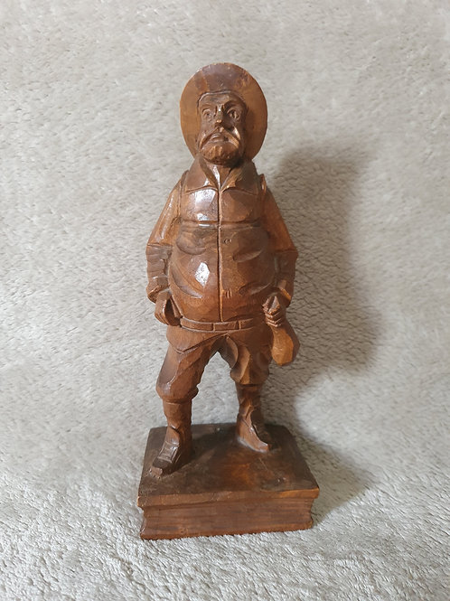 Carved Treen Statue of a Man
