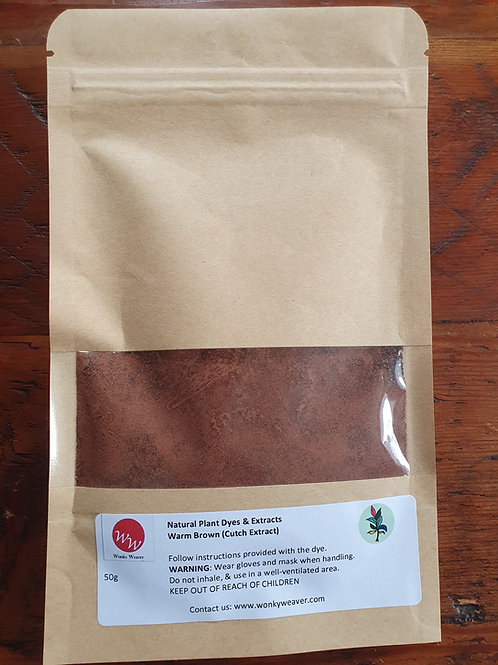 Cutch Natural Plant Dye Extract (Warm Brown)