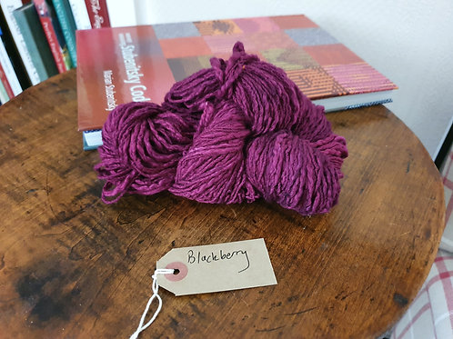 Chromatic Cotton Yarn - Blackberry - Organic & Luxor available