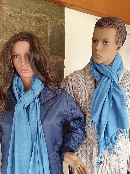Indigo Dyed Handwoven Organic Kala Cotton Scarf