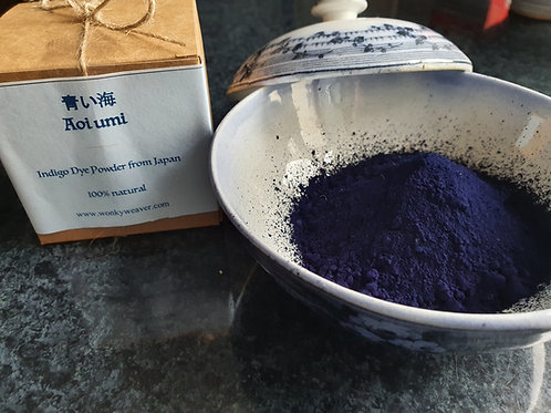 Aoi Umi™ Beautiful Natural Indigo Dye from Japan in kawaii box