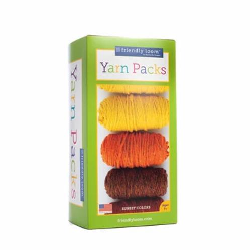 PegLoom and LapLoom Yarn Packs - Sunset Colourway