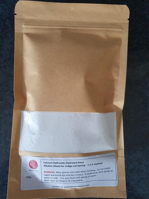 Calcium Hydroxide (Calx) alkaline (base) for Indigo Dye vats - 100g