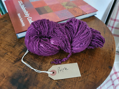 Chromatic Cotton Yarn - Purple - Organic & Luxor available