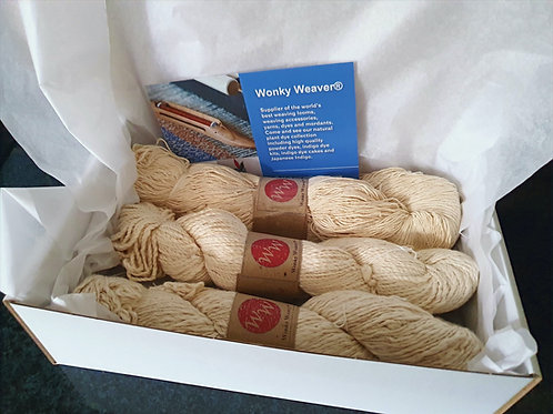 Pure Organic Cotton Yarn Pack - 3 x 100g