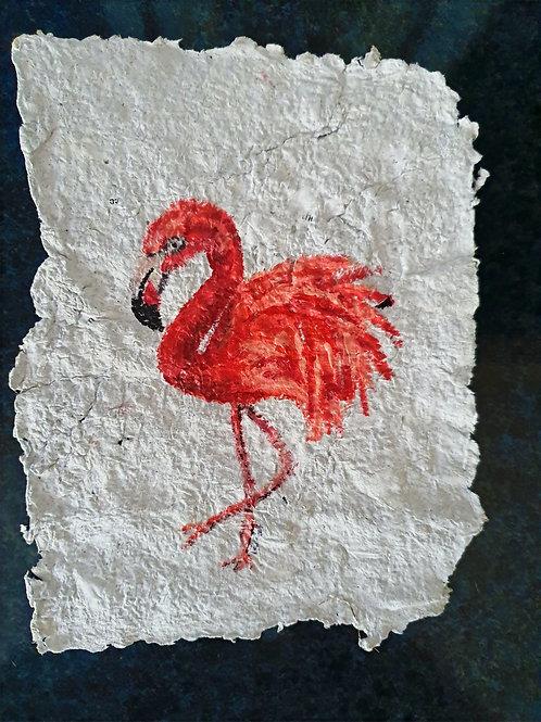 Pink Flamingo - By Paper et Paint