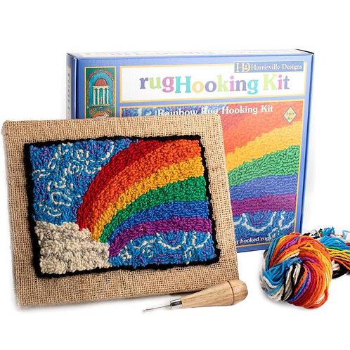 Traditional Rug Hooking Kit - Rainbow Design