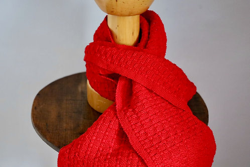 "Wonky Weaver™ Originals - ""Cwtsh"" Scarf - Madder Red"