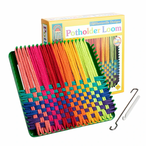 Potholder Loom & cotton loops Kit - Traditional Size - 7""