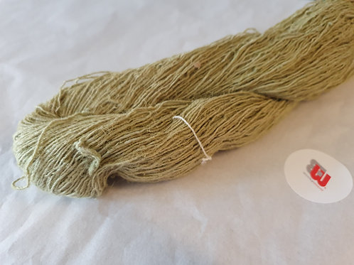 Pale Green Dyed Natural Hemp Yarn 7/1 nm -100g skein