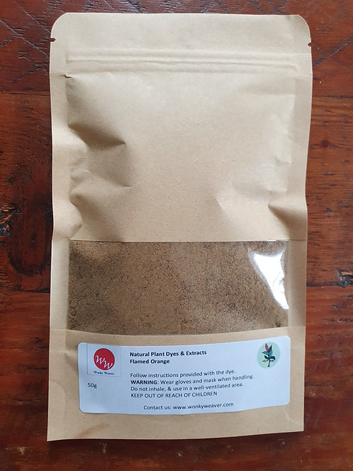 Flame of the Forest Natural Plant Dye Powder (Flamed Orange)