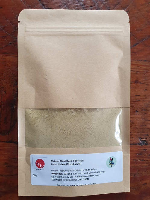 Myrobalan Natural Plant Dye Extract (Yellow Cedar)