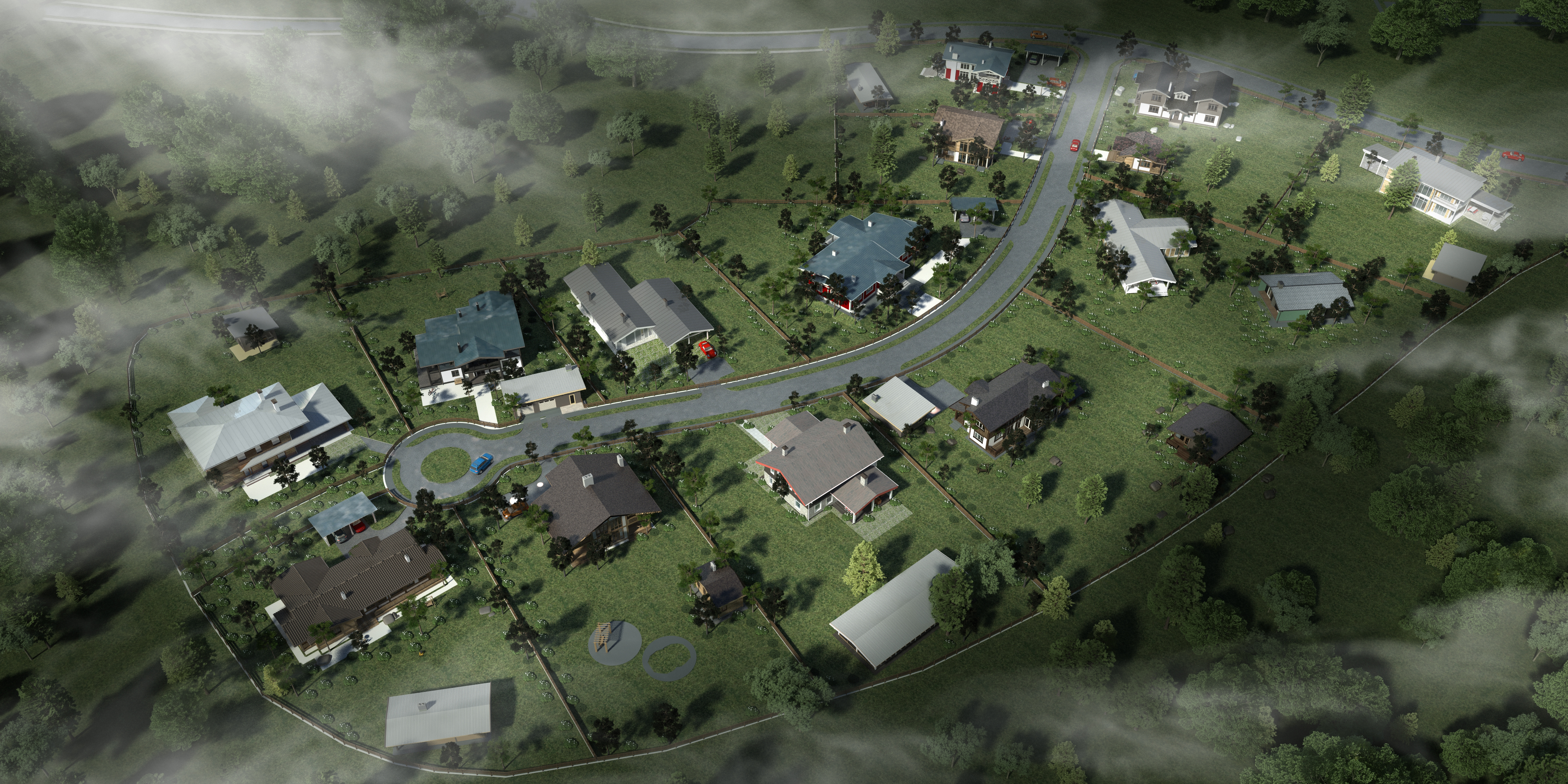 Проект посёлка.