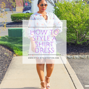 shirt dress how to style it