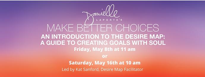 Lead by Kat Sanford, Desire Map Facilita