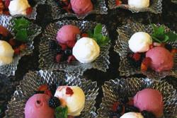Homemade Sorbet and Berries