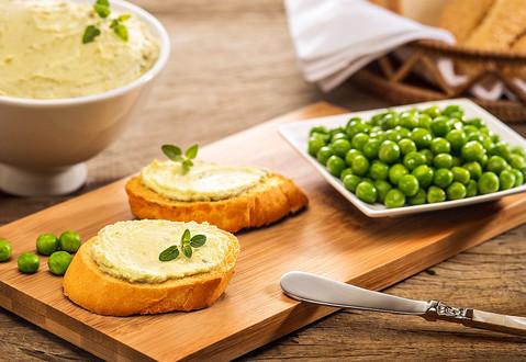 Foto com produção de culinária e objetos