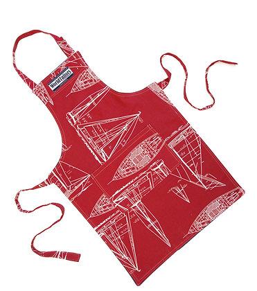 Red Sailboat Junior Cook Apron